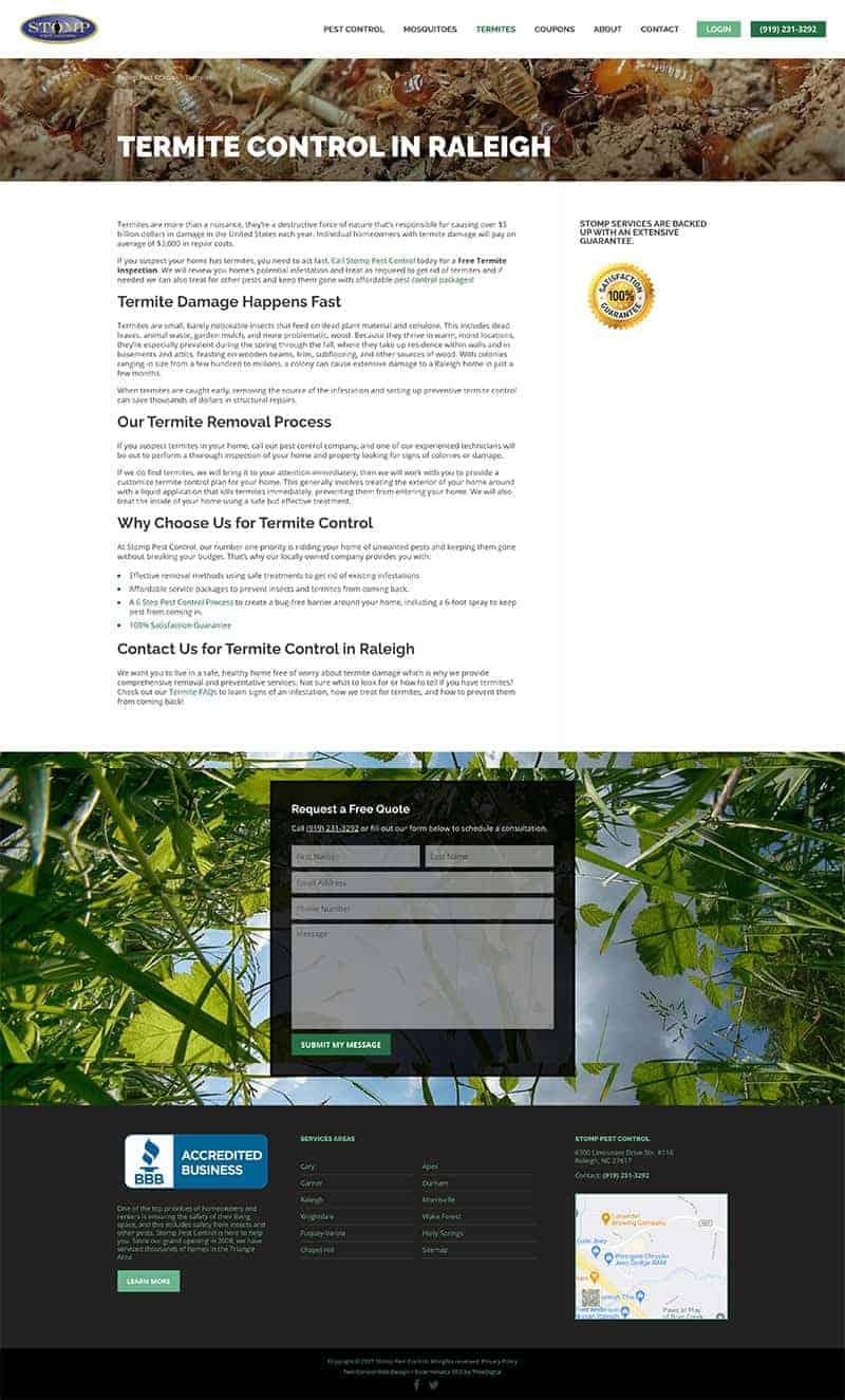 Stomp Pest Control   WPdigital Screenshot