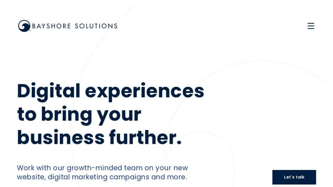 Screenshot of Bayshore Solutions's Website