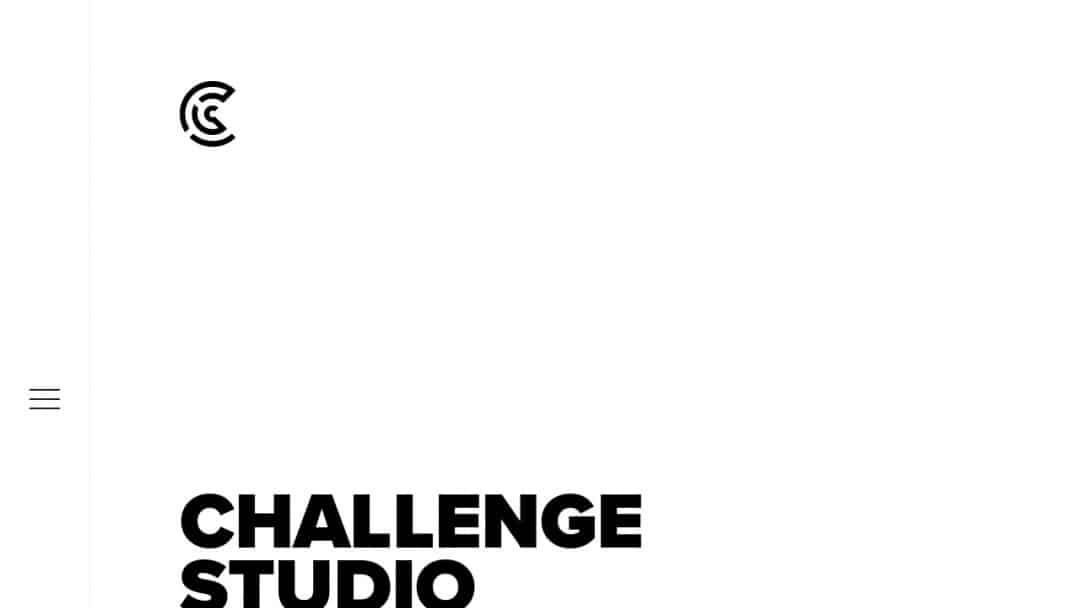 Screenshot of CHALLENGE Studio's Website