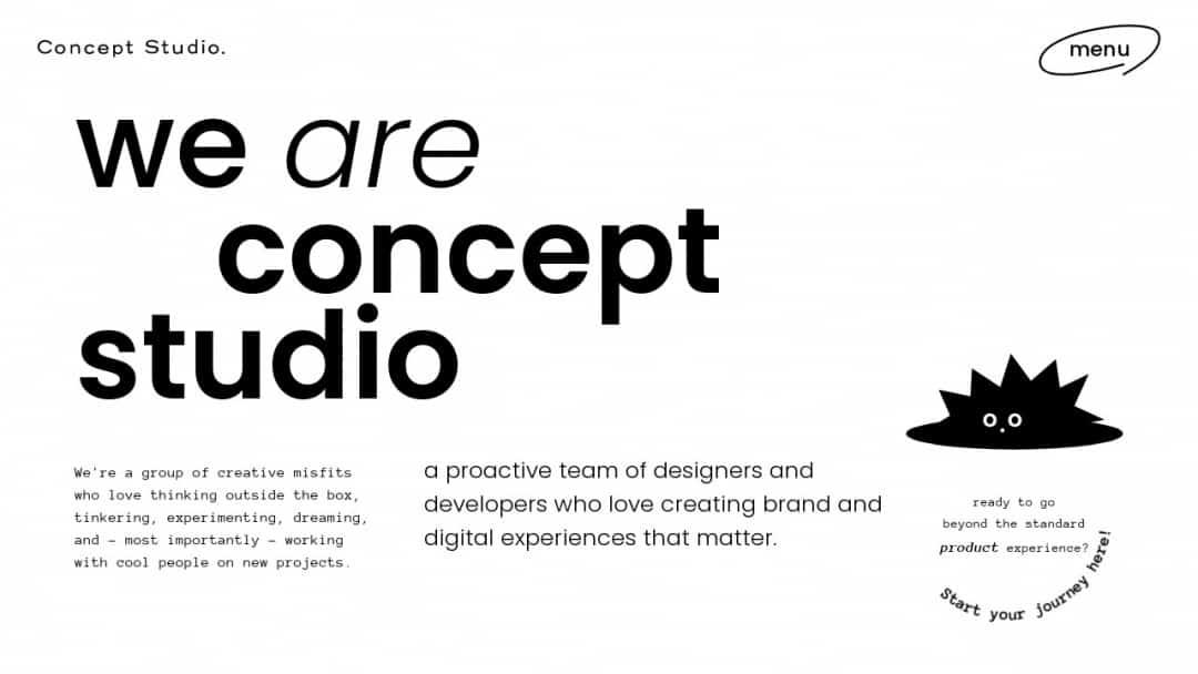 Screenshot of Concept Studio's Website