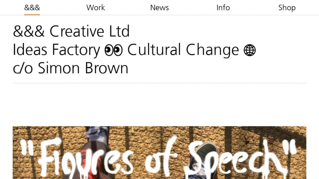Screenshot of &&& Creative's Website