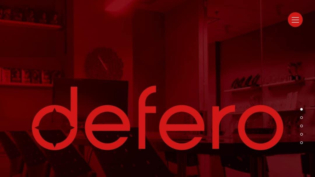 Screenshot of Defero's Website