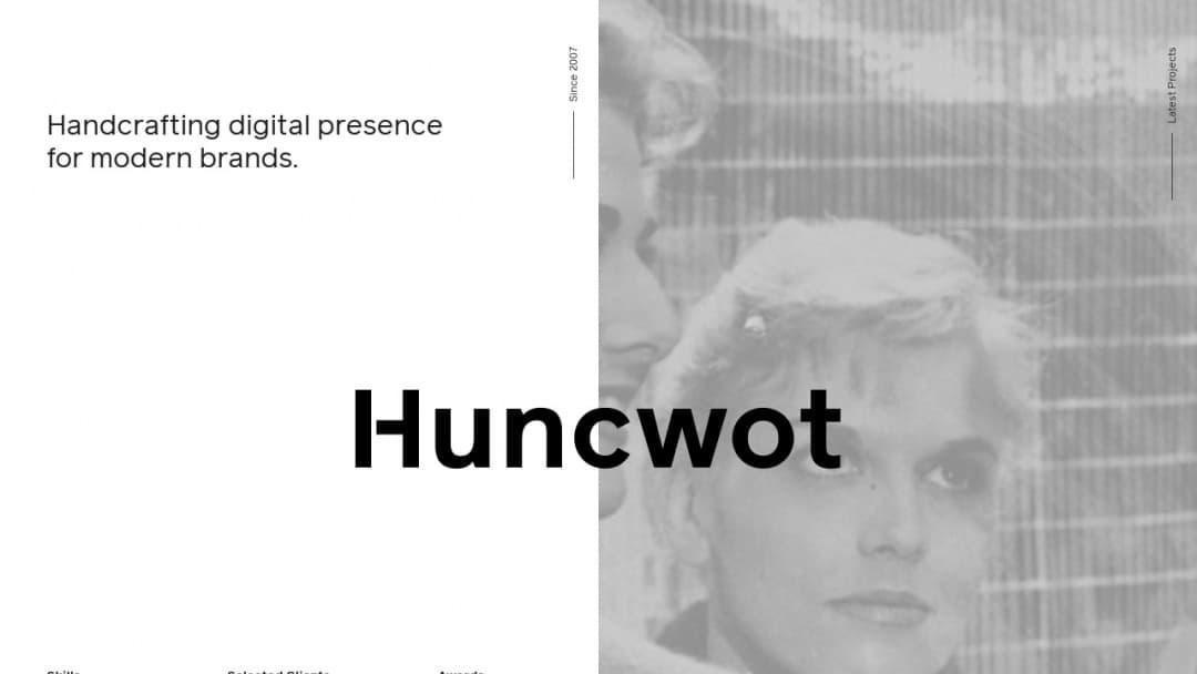 Screenshot of Huncwot's Website
