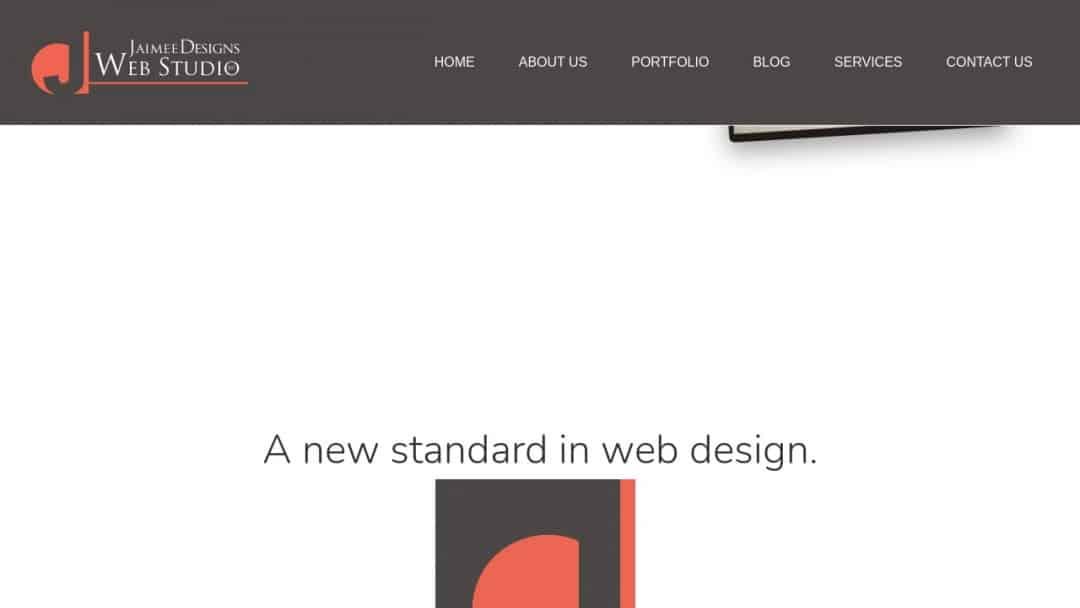 Screenshot of Jaimee Designs Web Studio's Website