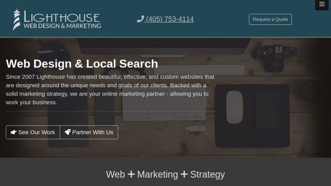 Screenshot of Lighthouse Web Design & Marketing's Website