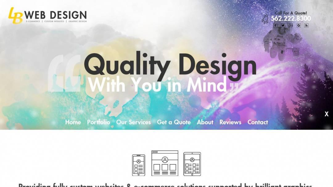 Screenshot of Long Beach Web Design's Website