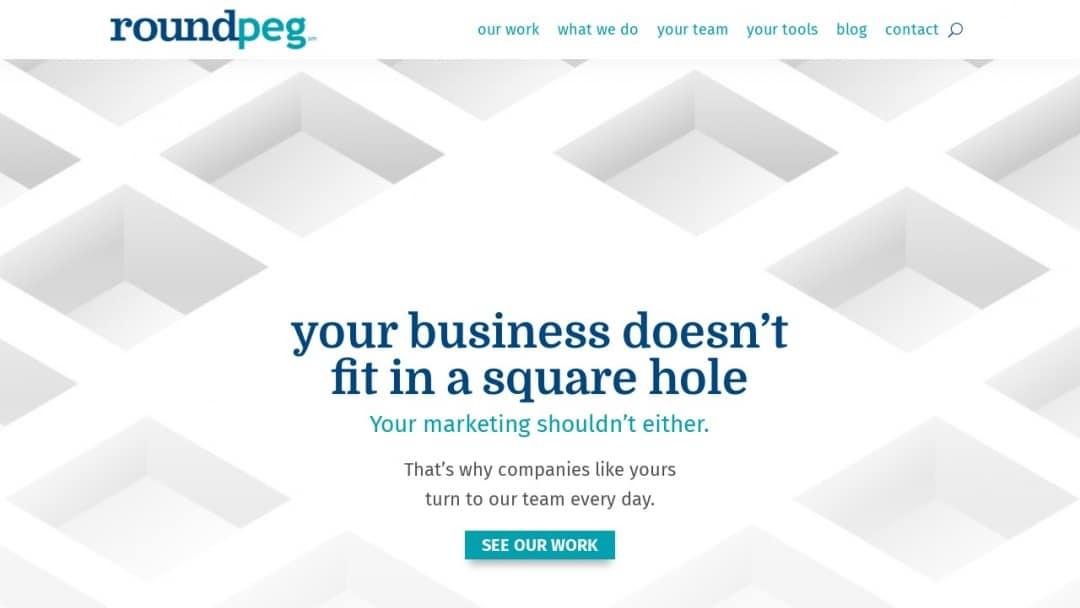 Screenshot of Roundpeg's Website