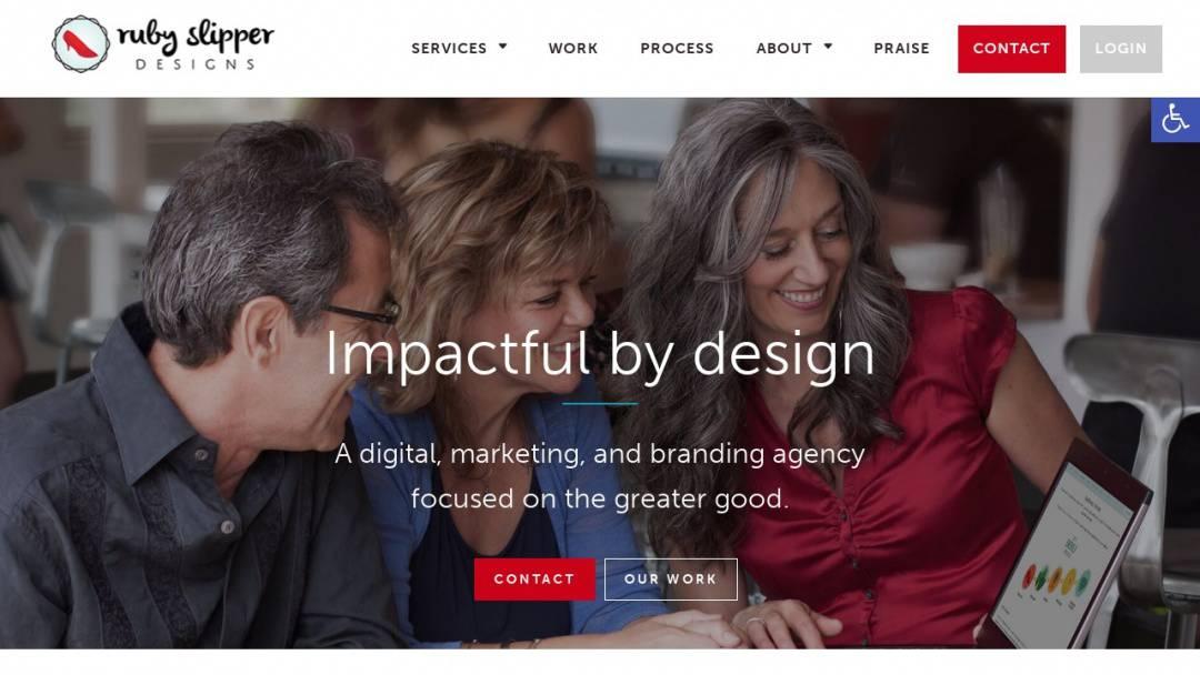 Screenshot of Ruby Slipper Designs's Website