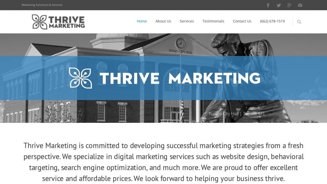 Screenshot of Thrive Marketing Digital Agency's Website