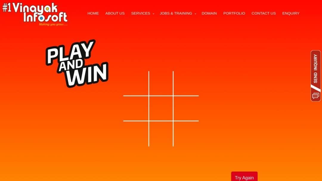 Screenshot of Vinayak InfoSoft's Website