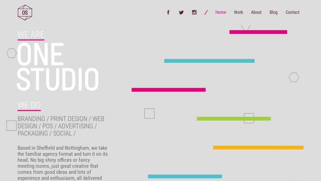 Screenshot of We are One Studio's Website