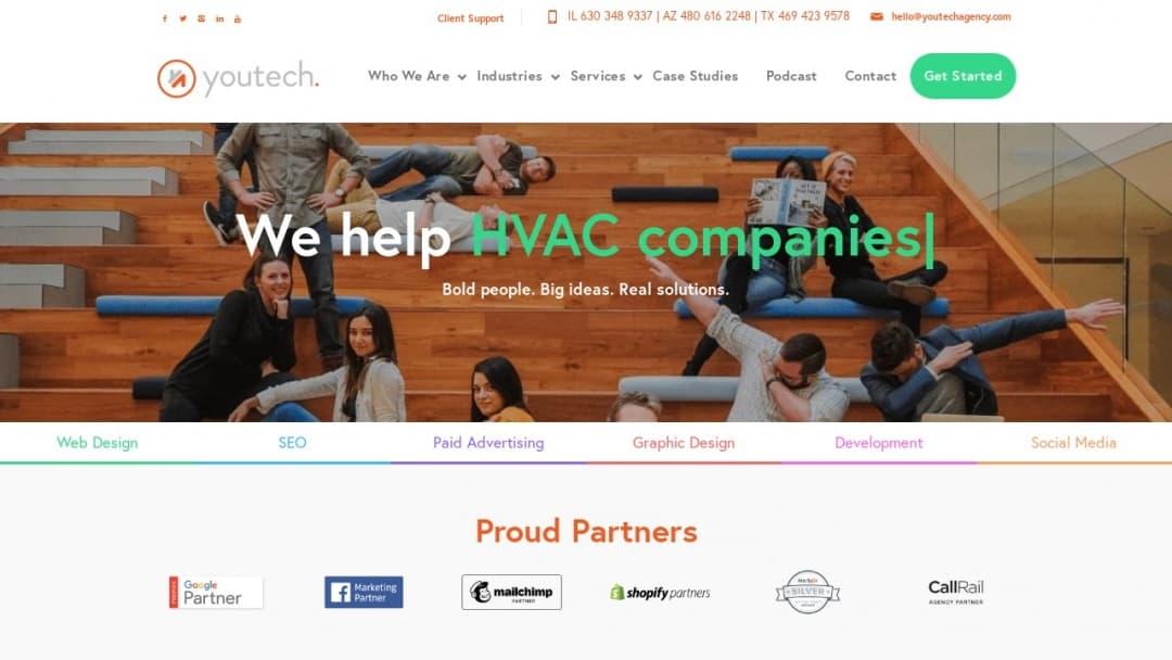 Screenshot of Youtech's Website