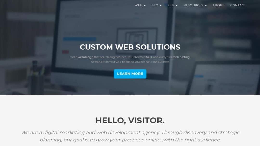 Screenshot of Zadro Web's Website