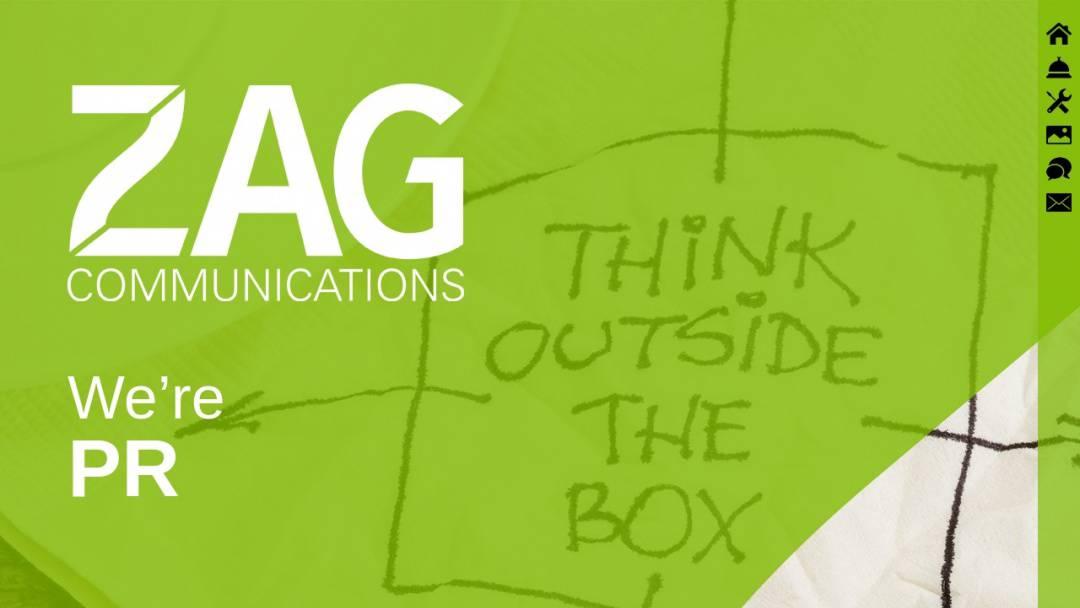 Screenshot of ZAG Communications's Website