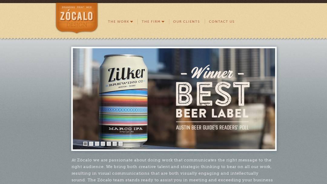 Screenshot of Zocalo Design's Website