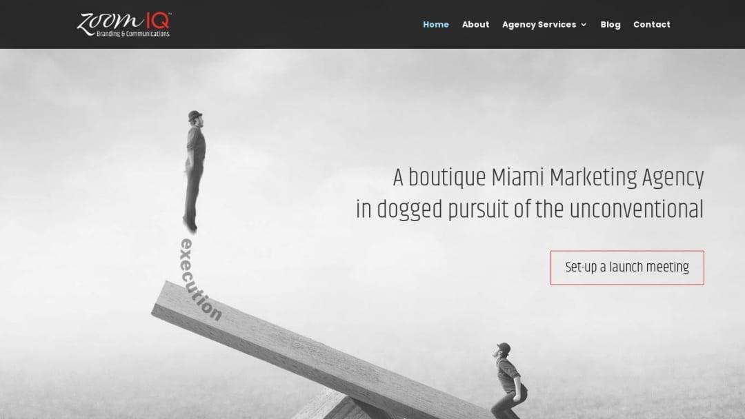 Screenshot of Zoom IQ Creative Marketing's Website