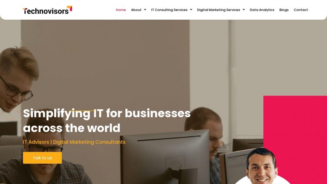 Screenshot of Technovisors's Website