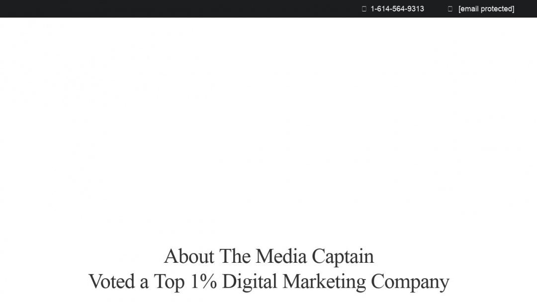 Screenshot of The Media Captain's Website