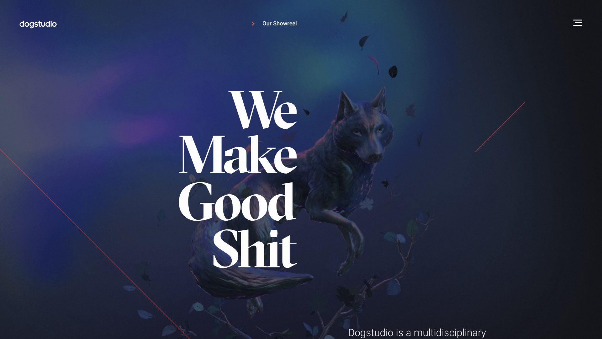 Best Creative Agency Website for Dogstudio