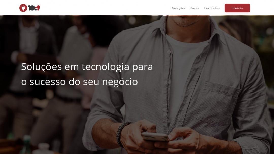 Screenshot of 10i9's Website