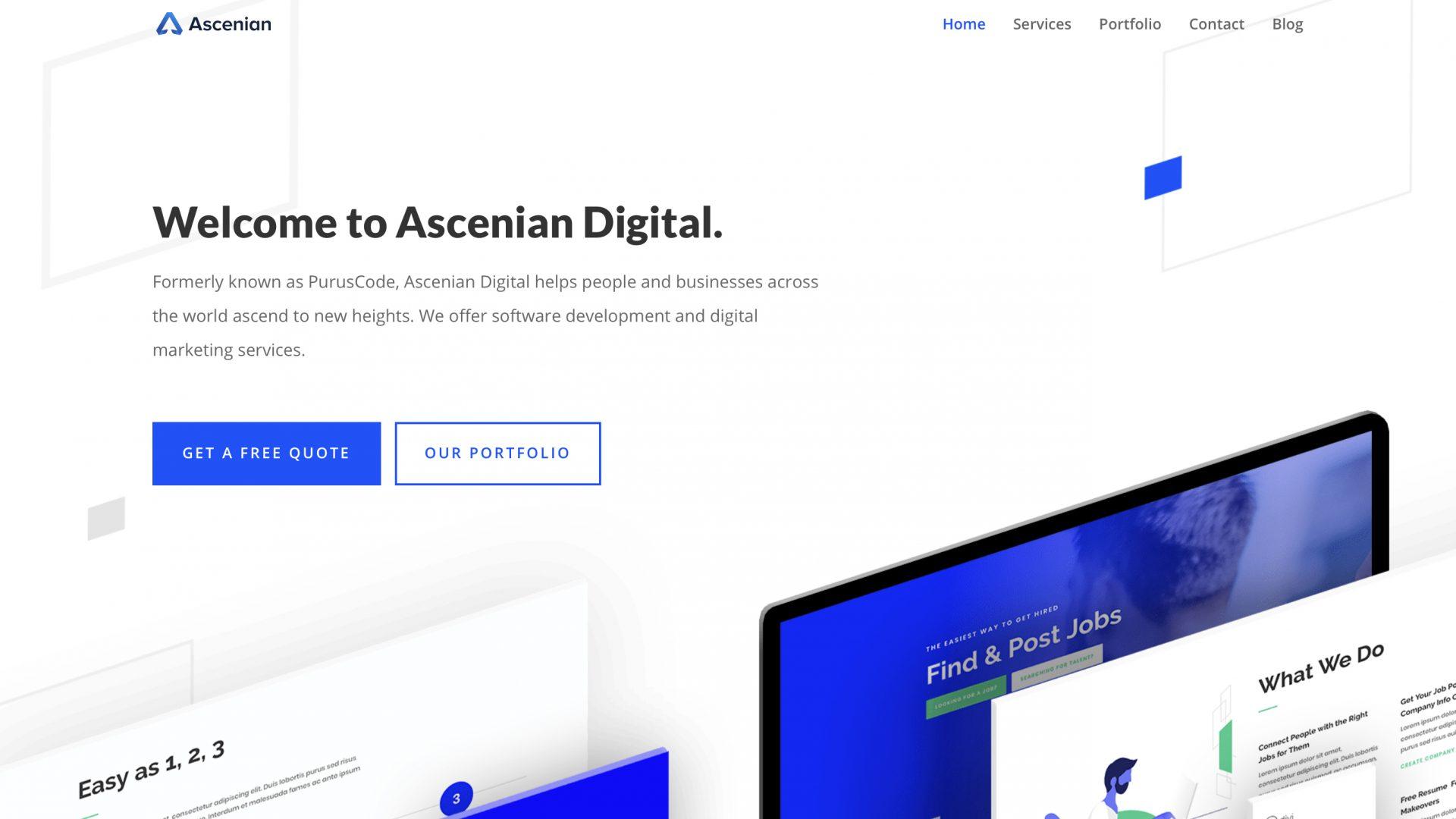 Best Creative Agency Website for Ascenian Digital