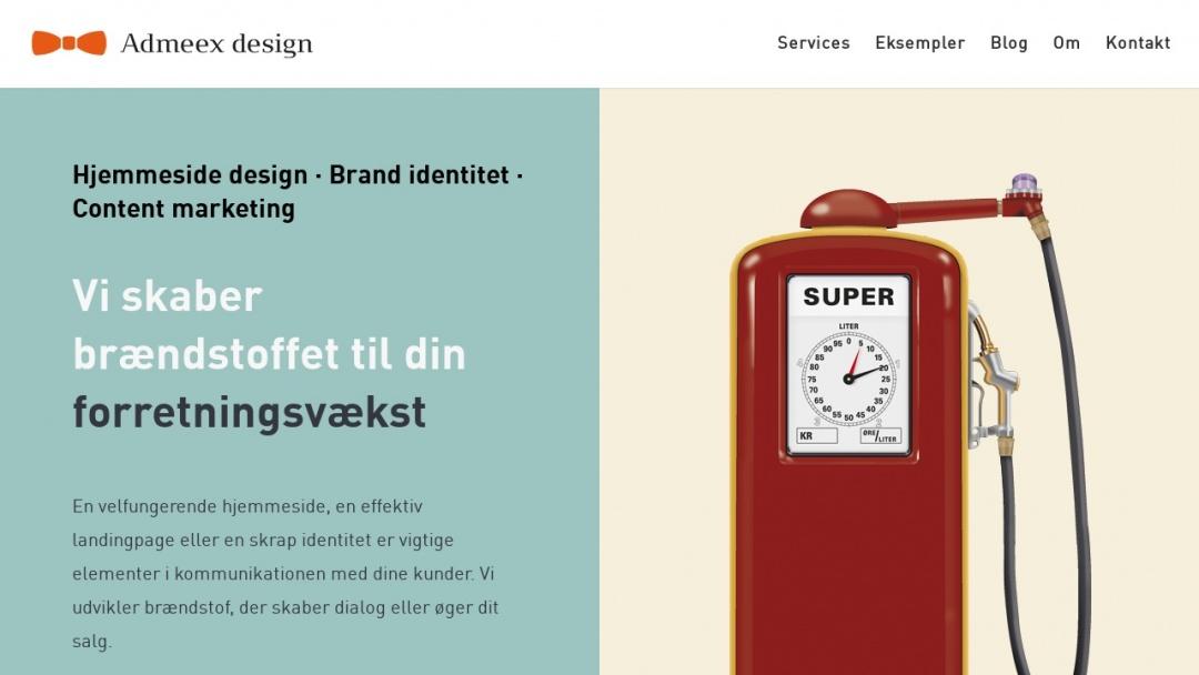 Screenshot of Admeex design's Website