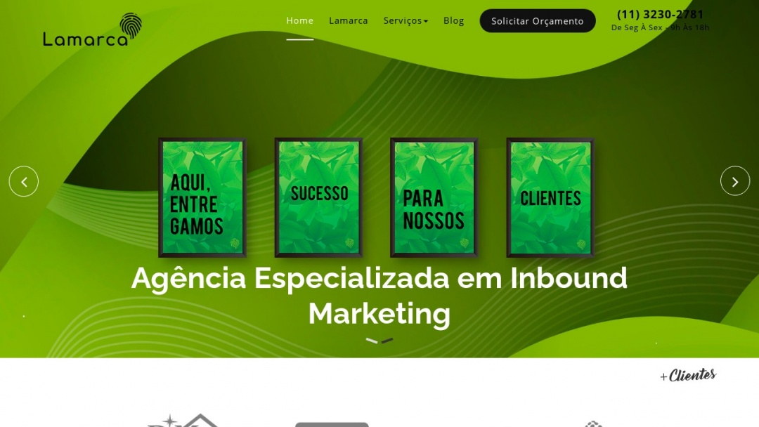 Screenshot of Agência Lamarca's Website