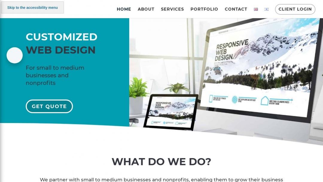 Screenshot of AGP Web Design's Website