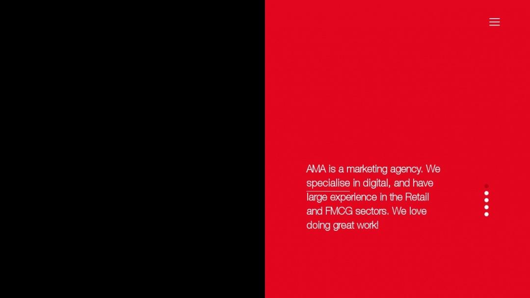 Screenshot of AMA Ltd's Website