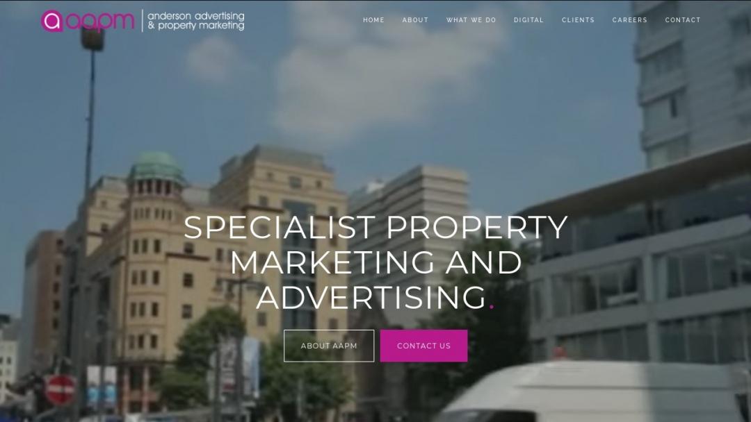 Screenshot of Anderson Advertising's Website