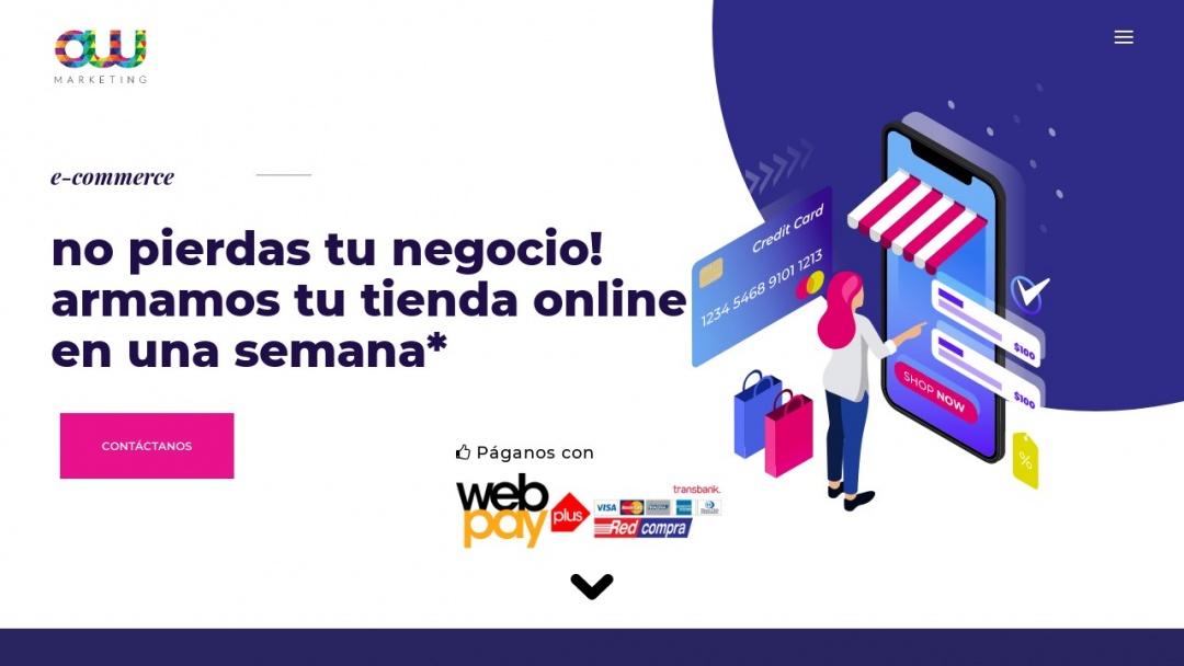 Screenshot of AW Marketing's Website