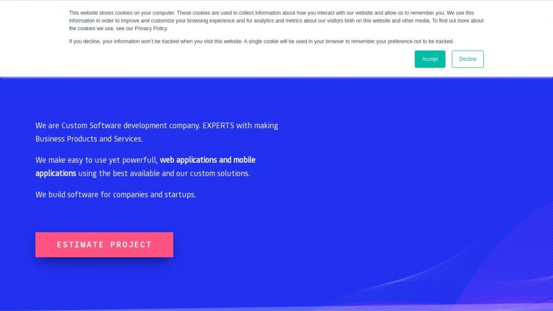 Screenshot of B-MIND Software House's Website