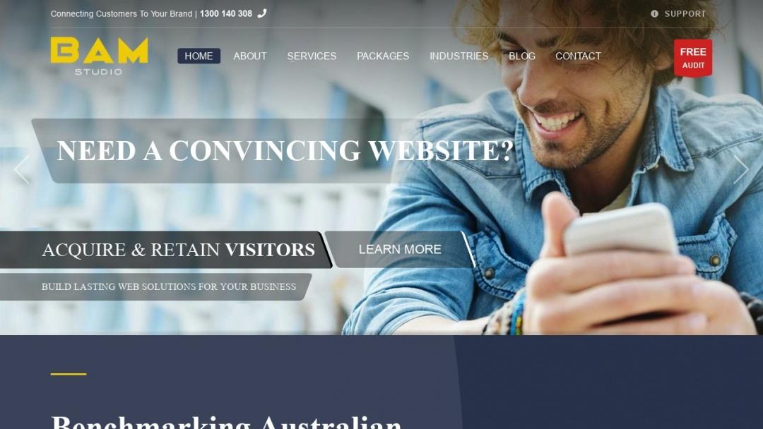 Screenshot of BAM Studio's Website