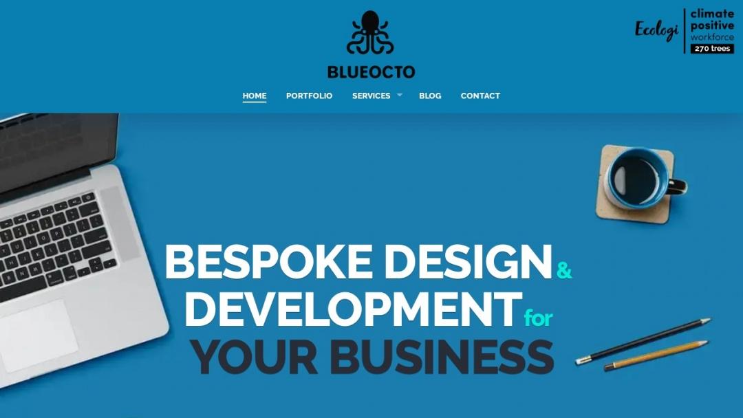 Screenshot of Blueocto Ltd's Website