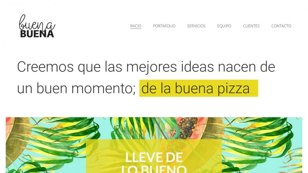 Screenshot of Buena Buena's Website