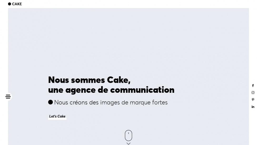Screenshot of CAKE Communication's Website
