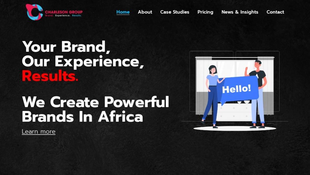 Screenshot of Charleson Group's Website