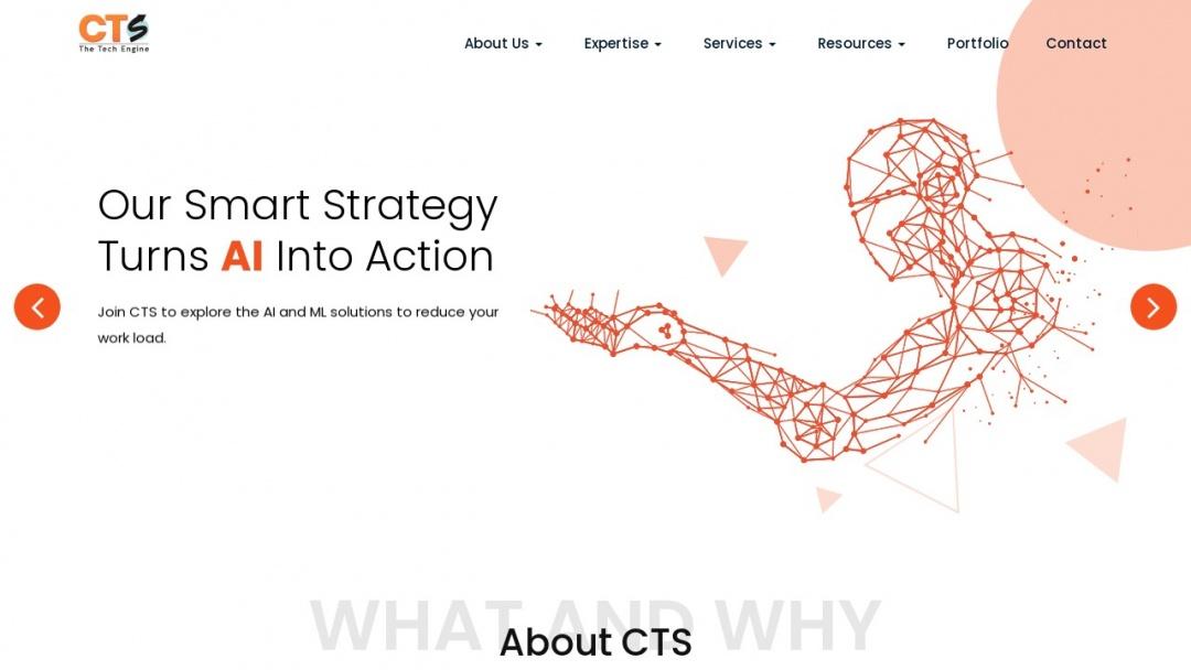 Screenshot of Chawtech Solutions Pvt. Ltd.'s Website