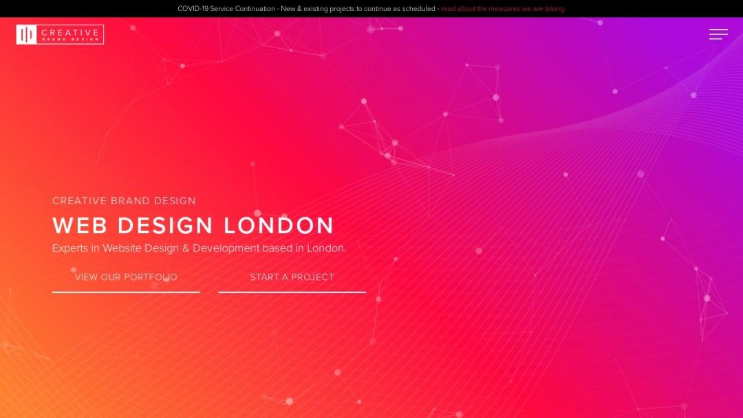 Screenshot of Creative Brand Design's Website