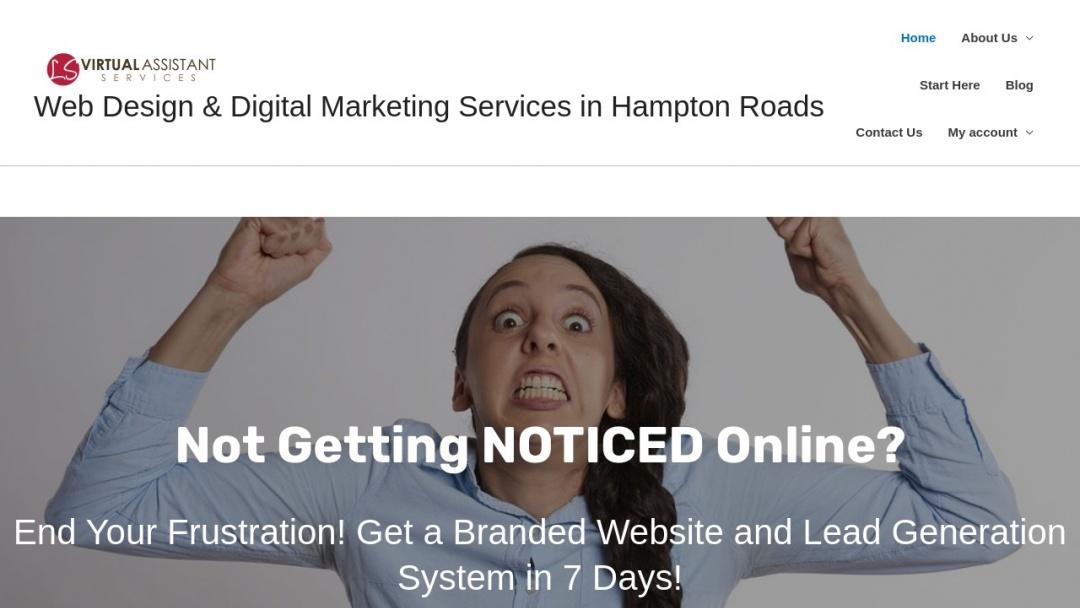 Screenshot of LS Virtual Assistant Services's Website