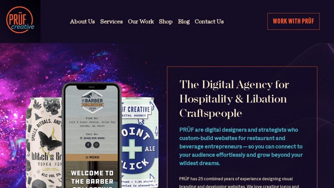 Screenshot of PRÜF creative's Website