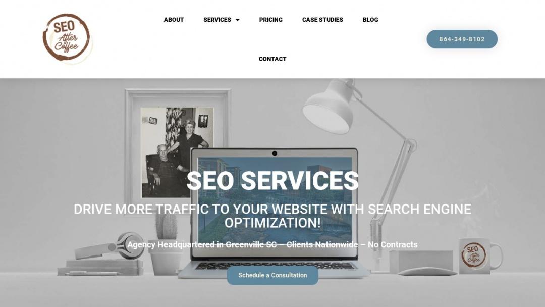 Screenshot of SEO After Coffee's Website