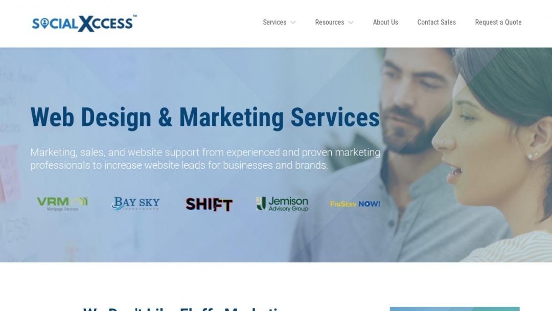 Screenshot of Social Xccess's Website