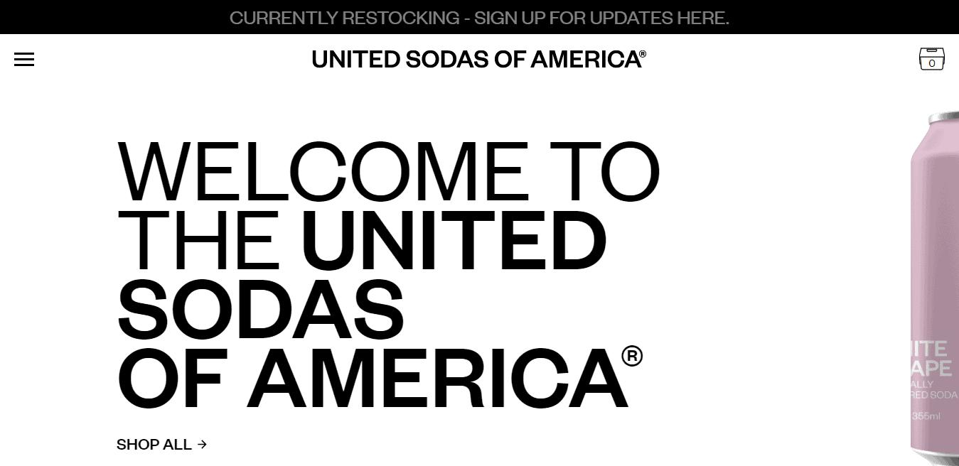 Best Agency Website for United Sodas of America