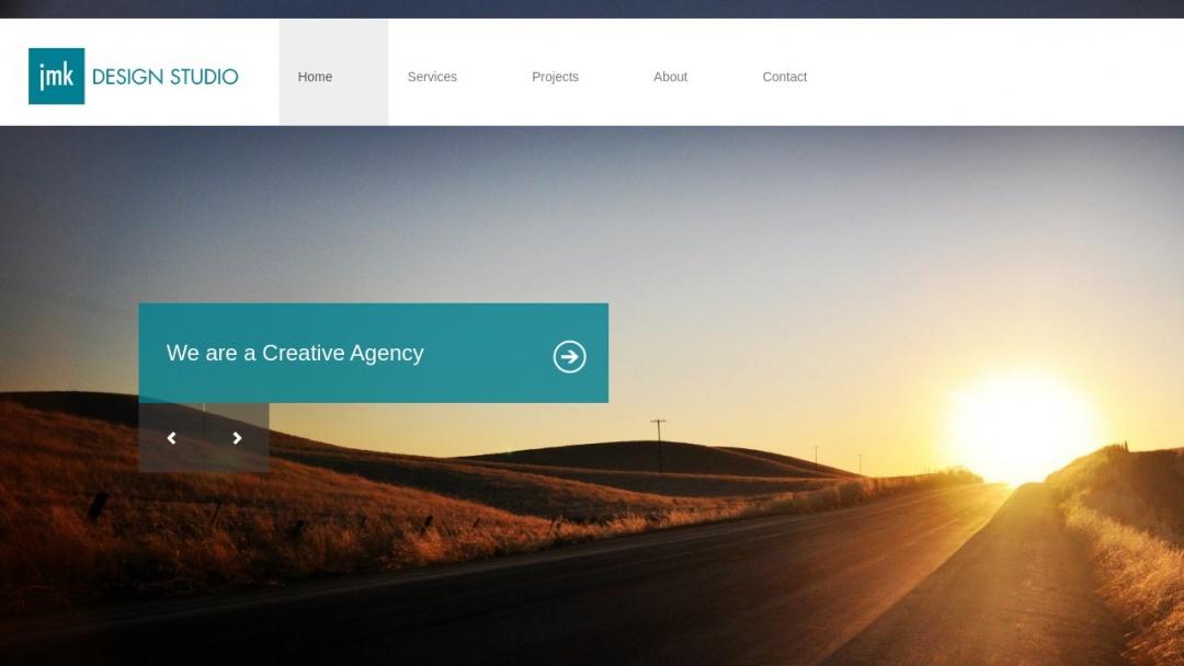 Screenshot of JMK Design Studio's Website