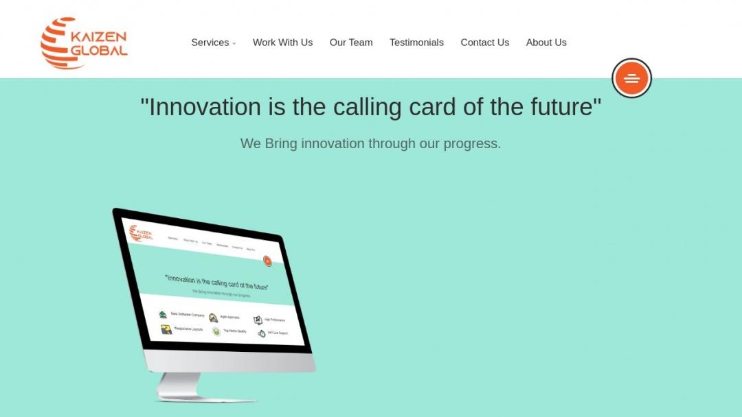 Screenshot of Kaizen Global   Software House In Rawalpindi, Pakistan's Website