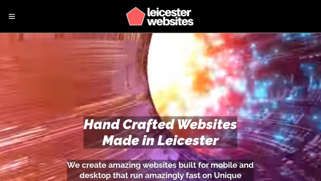 Screenshot of Leicester Websites's Website