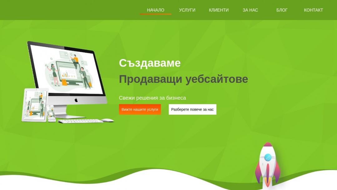 Screenshot of Mint Soft, LTD's Website