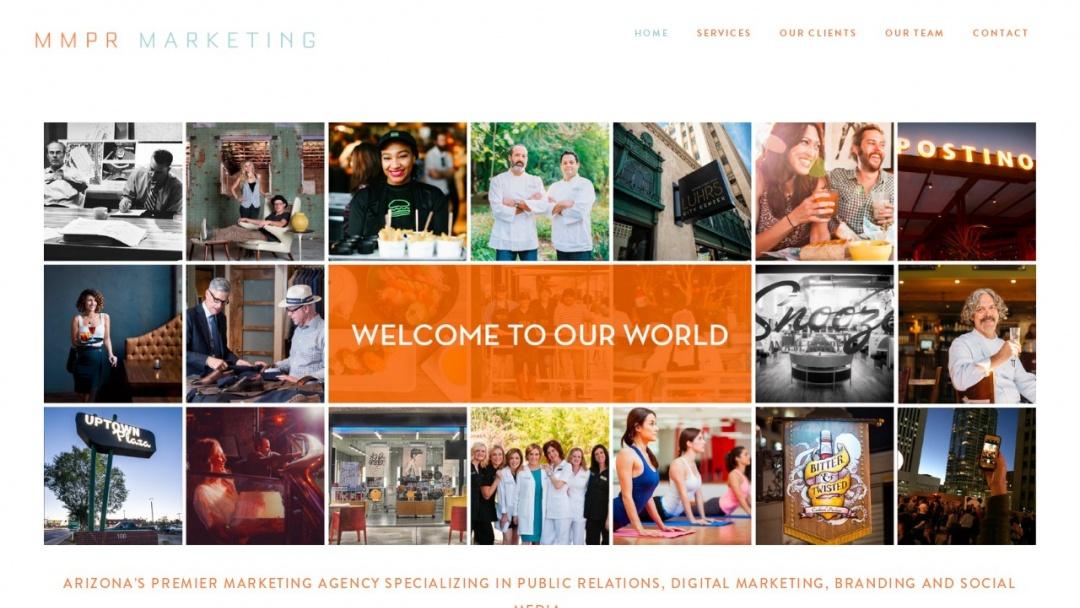 Screenshot of MMPR Marketing's Website
