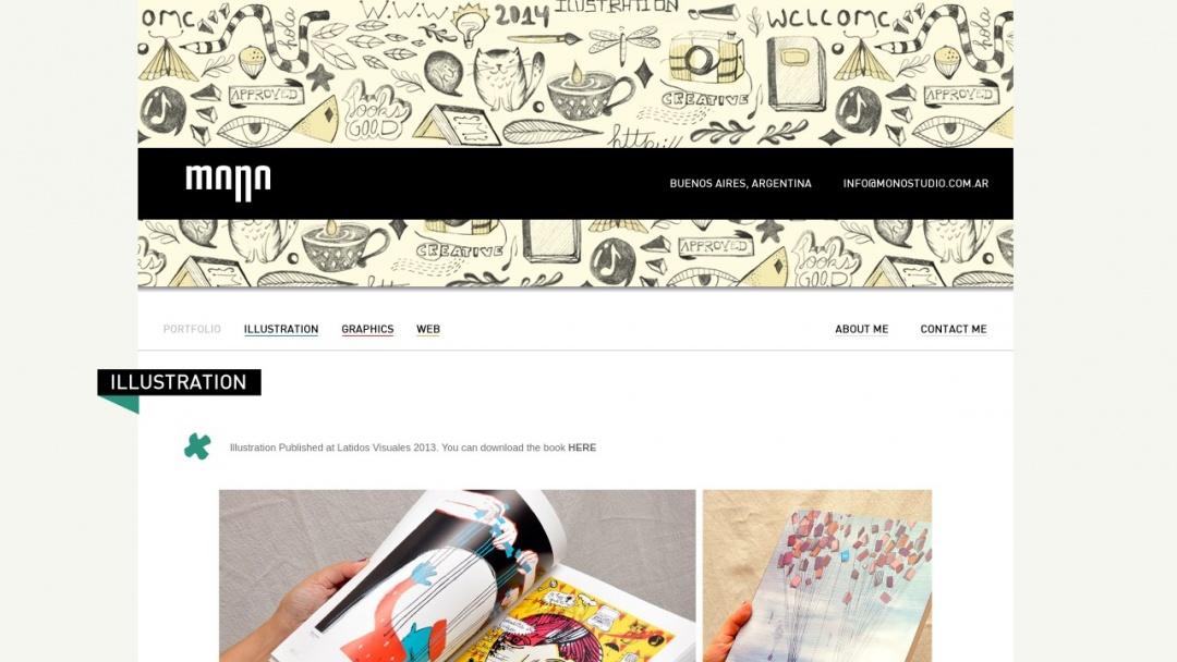 Screenshot of MonoStudio's Website